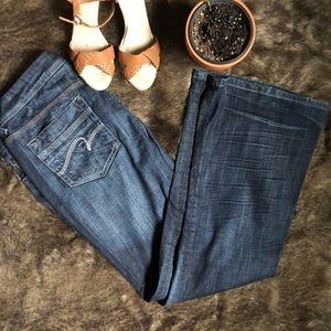 Maurices Morgan new boot dark wash jeans 11/12